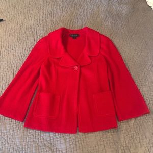 St. John Red Knit Jacket 12